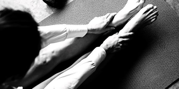 Person doing Pilates stretch