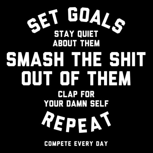 Set Goals. Smash Them. Repeat.
